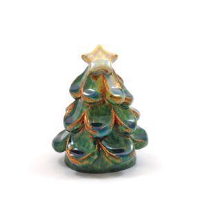 albero di natale verde rame ceramiche Lega