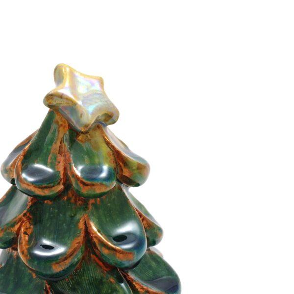 albero di natale verde rame, dettaglio