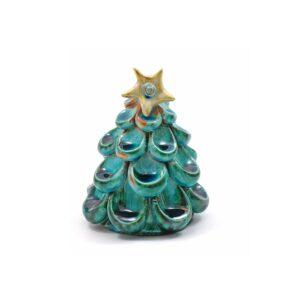 albero di natale azzurro ceramiche lega